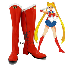 Anime Sailor Moon Sailormoon Girls Red Boots Cosplay Party Shoes Custom Made
