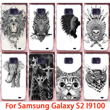 Soft Phone Cases For Samsung Galaxy SII I9100 S2 GT-I9100 Cases Black Animals Hard Back Cover Skin Shell Housing Sheath Bag Hood