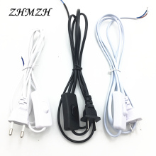 AC Power Cord 1.8m Switch Plug Wire Two-pin EU Plug Cable Extension Cords US Type Adapter(China)