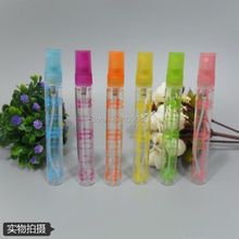 10ML Colorful Glass Perfume Bottle, Long Thin Parfum Vial, Spray Atomizer 10CC Perfume Test Sample Packing Bottle, 50pcs/Lot(China)