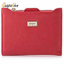 Guapabien New Small Designer Slim Women Red Wallet Thin Zipper Ladies PU Leather Coin Purses Female Purse Clutch Cheap Women