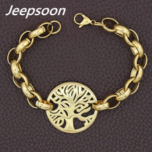 Fashion Stainless Steel Jewelry Christmas Tree Chain Bracelet For Woman High Quality Jeepsoon BGEGAGBA
