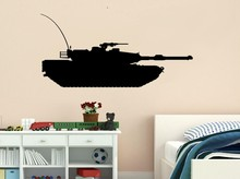 Creative Tank Vinyl Decal Military Army Tank Kid Room Decor Vinyl Wall Art Sticker Bedroom Home Wall Decoration Gift for kids