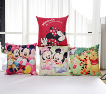 Mickey Minnie Winnie Pooh throw cushion Decorative pillow no filling cotton sofa bed linings wedding decoration pillowcase