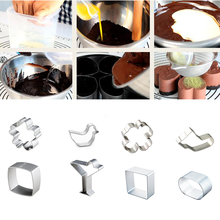 Big Sale 1Pcs/set Specialized Metal Cake Cookie Bakeware Mould Fondant Cutters Biscuit Mold Kitchen Diy Triangle - loowood Store store