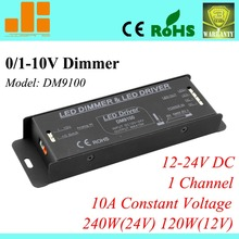 Free Shipping Top Selling, 0-10V dimmer, 0-10V dimming driver, 12V pwm dimmer, 1CH/10A/240W DM9100