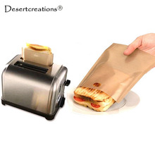 5 Pcs/set Non Stick Reusable Heat-Resistant Toaster Bags Sandwich Fries Heating Bags Kitchen Accessories Cooking Tools Gadget(China)