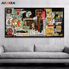 Hipster Graffiti Art Posters Jean-Michel Basquia Notary Canvas Print Painting Poster, Wall Pictures For Living Room, Home Decor