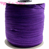 "5/8""16mm solid color matt fold over elastic ribbon plum foe ties headwear sewing elastic band decoration crafts 50yards(China)"