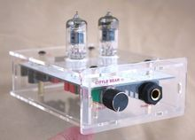 New Little bear CLEAR panel P2 HiFi 6J1 valve tube headphone amplifier amp free shipping