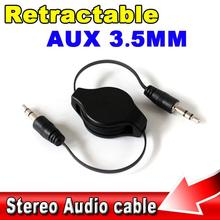 Mini 3.5mm Jack Male to Male Car Phone Audio Flexible Extension Cable Retractable Aux Line for IPOD for Itouch MP3 Players