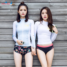 Woman Beach UPF 50+ Sun UV Protection Swimwear Rash Guard Ladies Long Sleeve Swimming T Shirt Surfing Wetsuit Women Sports Suits