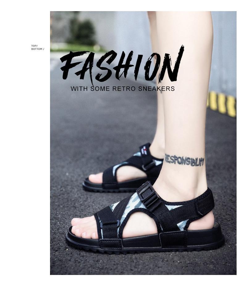 Slippers Men's Sandals Men's Summer Men's Sandals And Slippers Non-slip Beach Fashion Outdoor Wear Drag Trend 80 Online shopping Bangladesh