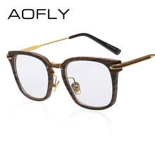 AOFLY Fashion Newest Style Frame Plain Eyeglass Frame Optics Clear Reading Glasses Trendy Goggles for Men Women oculos feminino(China)