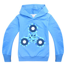 2017 Hot Fidget Spinner Pattern Children Clothes  Baby Boys Girls  Clothes kids sweatshirts Long Sleeve Autumn Style Hoodies