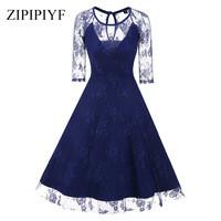 Zipipiyf-Spring-Autumn-Women-Vintage-Dress-Fashion-Solid-Color-Half-Elegant-V-Neck-Party-Vestidos.jpg_200x200