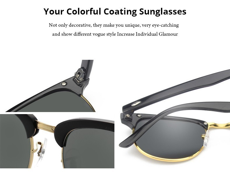 Luxury Square Men Sunglasses Women Brand Designer 2017 Retro Vintage Sun Glasses For Women Men Male Lady Female Sunglass Mirror (4)