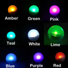 Fairy LED Pearls!!!(50pcs/Lot) Wedding Decoration 2CM Mini Colorful Small Battery Led Berries Waterproof Floating LED Lights(China)