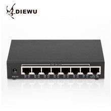 DIEWU-8 DW-POE100-T8 Ports Ethernet Switch board 100MBPS Network Monitoring Camera Wireless AP Power Supply Intelligence