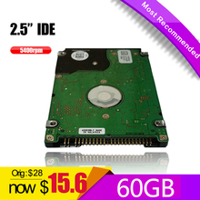 "2.5 hard disk 60GB HDD IDE 2.5"" HDD  PATA 60GB 5400RPM   HD  xbox 360 Notebook Hard Disk Drive interno Disco Duro Hot Selling"