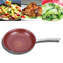 Non-Stick Copper Frying Pan With Ceramic Coating and Induction Cooking,Oven & Dishwasher Healthy Cooking 24cm*4.3cm*2.3mm(China)