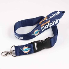 USA Football Miami Dolphins Lanyard Neck Strap For ID Pass Card Badge Gym Key/Mobile Phone USB Holder DIY Hang Rope Necklace(China)
