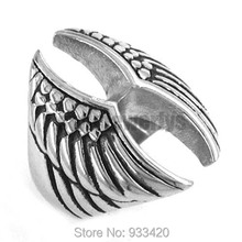 Cool Eagle Wings Motorcycles Ring Stainless Steel Jewelry Fashion Punk Motor Biker Wing Women Men Ring Wholesale SWR0208B