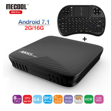 MECOOL M8S PRO plus Smart Android 7.1 TV Box Amlogic S905X WIFI H.265 4K Smart BOX 2G RAM 16G ROM 4K Media player 2.4G WIFI