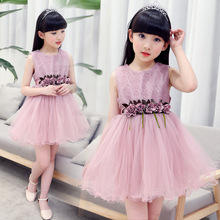 Anlencool new Children's dress girl 2017 dresses in the middle of the summer children's big dress baby girls clothing dress