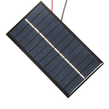 1W 6V Mini Solar Cell With Cable Epoxy Solar Panel DIY Small Solar System/Solar Toys/Solar Charger High Quality Free Shipping(China)