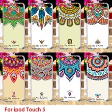 Soft TPU Cases For Apple iPod Touch 5 5th 5G touch5 Case Half Sunflowers Hard Cell Phone Cover Housings Bags Sheaths Skins Hoods
