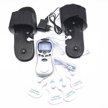 Russian Special Digital Slimming Tens unit massager pulse therapy massage accupuncture electrode muscle stimulator foot slippers