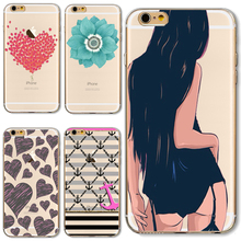 TPU Cover For Apple iPhone 4 4S 5 5S SE 5C 6 6S 6Plus 6S+ Cases Phone Modern Sexy Beauty Back Shell Top Style Popular