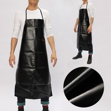 Leather Chef Apron Cooking Bib Apron Waterproof Restaurant Durable Sleeveless Apron for Men Household Tools(China)