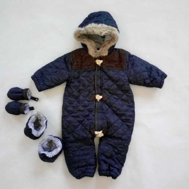 Baby Infant Rompers Winter Thick Climbing Clothes Newborn Baby Boys Girls Warm Romper Hooded Outwear<br>