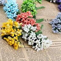 12 Teile/los Künstliche Blume Staubblatt Drahtschaft/ehe Blätter Staubblatt  DIY Kranz Hochzeit Box