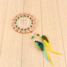 Car Home Wall Hanging Decoration Ornament Craft Gift Dream Catcher with Feathers hot sale(China)