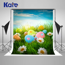 Kate Easter Photo Backdrop Colorful Eggs Spring Backdrops Photography Blue Sky Photography Studio Props Children Backdrops(China)