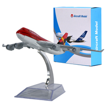WR Avianca Boeing 747 Mini Airplanes Creative Birthday Gifts Plane Scale Model Ideas for Men Desktop Model Planes(China)