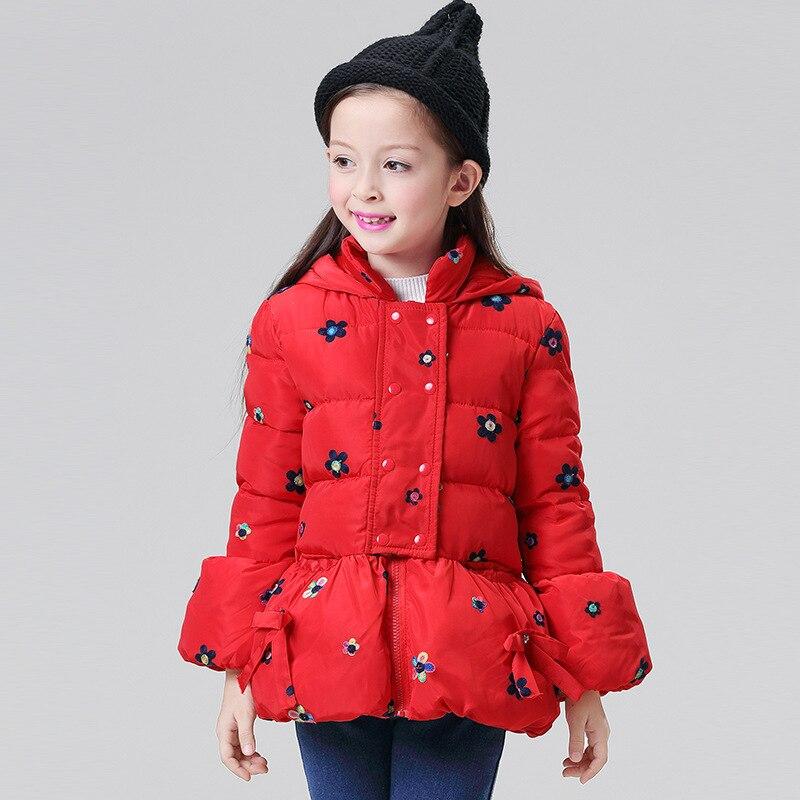 Mioigee New Fashion Children  Girls Print Fashion Cute Girl Jacket Winter Coat Hooded Warm Jacket For Girls Kids Outerwear Îäåæäà è àêñåññóàðû<br><br>