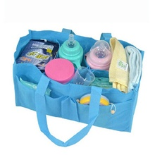 Hot Convenient Baby Diaper Nappy Water Bottle Divider Storage Organizer Mommy Bag Handbag Inner Pouch in Bag(China)