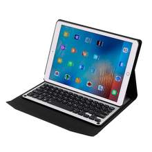 High quality Aluminum Backlit ABS Keys Detachable Bluetooth Keyboard Stand Pu Leather Cover For Apple iPad Pro 10.5 2017