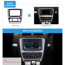 Seicane Silver Double Din Car Frame Radio Fascia Trim Kit for 2010 Skoda Octavia In Dash DVD Player Outter Frame Surround Panel