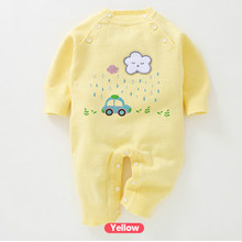 Z049 2017 New Baby Knitted Romper Cartoon Pattern Newborn Sweater Jumpsuit Cotton Infant Climbing Clothes Baby Rompers(China)
