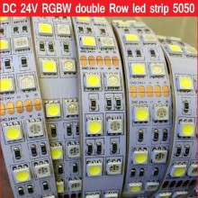 DC 24V 5M Double Row RGBW led strip RGB+ White / Warm White Flex Led tape Light waterproof IP21 IP67 5M 120leds/M 600LEDs