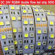 DC 24V 5M Double Row RGBW led strip RGB+ White / Warm White Flex Led tape Light waterproof IP21 IP67 5M 120leds/M 600LEDs(China)