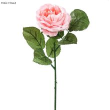 1 branch Artificial Flower Pink Rose Home Party Celebrations Public places Wedding Garden Festival Decor 30cm