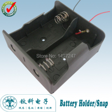 2Pcs/lot 2 D Battery holder Spring Loaded Storage Box Wired for  LR20/UM1/AM1 batteries TBH-D-2A