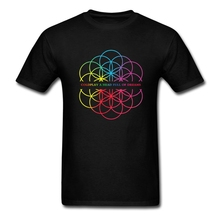 Unique Tee Shirts Coldplay A Head Full of Dreams Music Heavy Metal Rock Band Men's Cotton Short Sleeve T Shirt Summer Man Tees