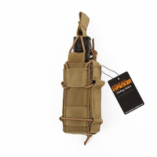 SPANKER 1000D Military Tactical Molle Pistol Magazine Pouch Flashlight Single Magazine Pouch Hiking Outdoor Hunting Bags